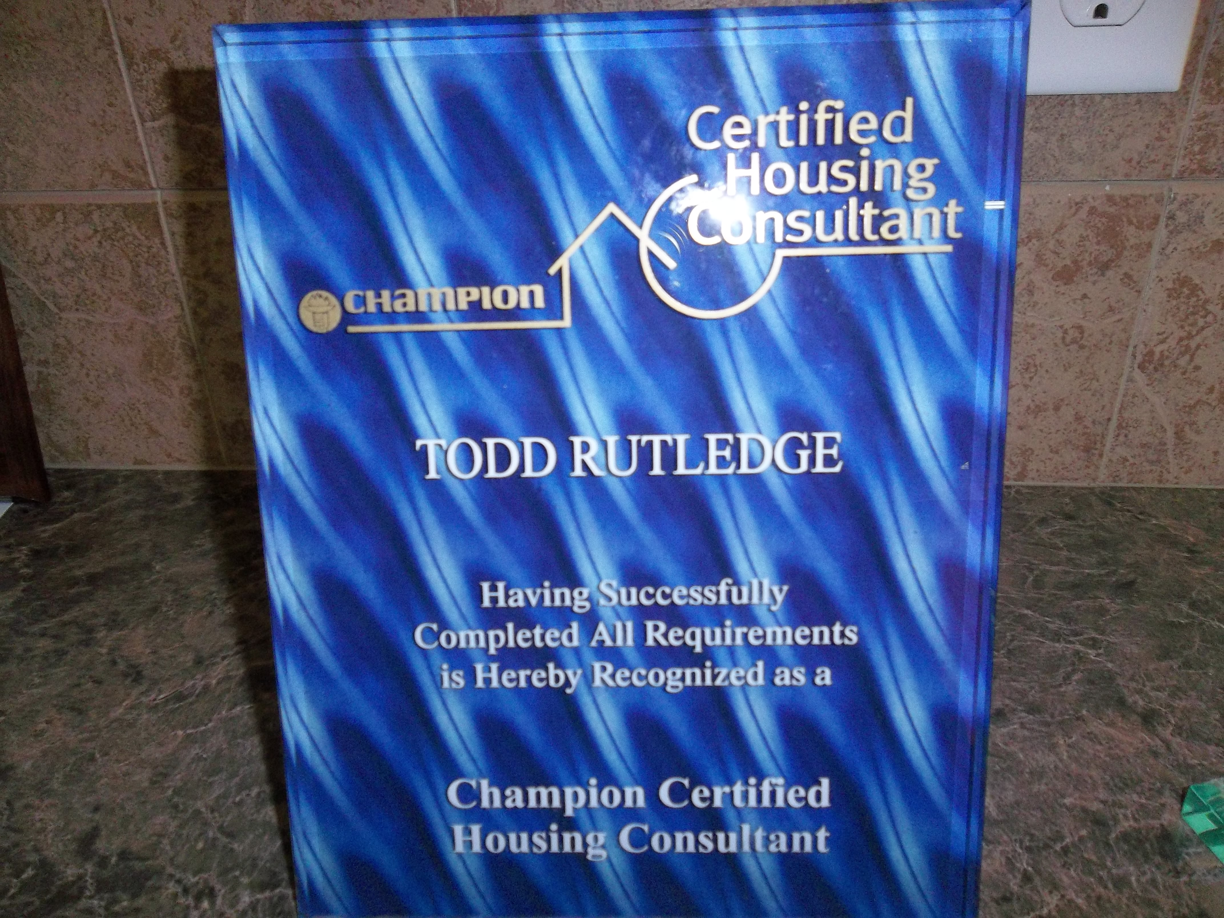 Certified Housing Consultant