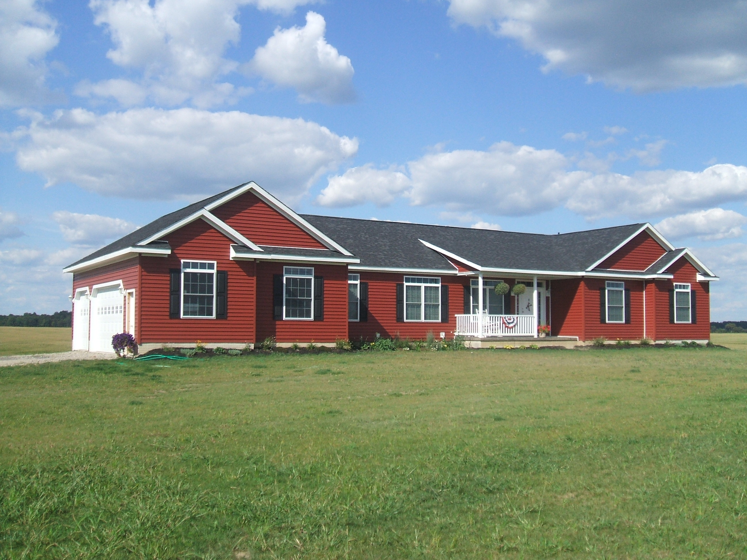 Custom Redman Homes, New home near Fayette Ohio.